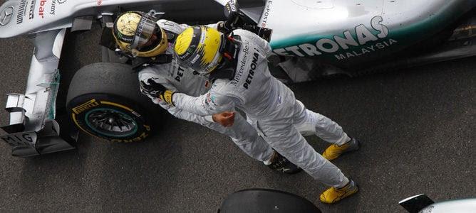 Schumacher y Rosberg en Bélgica 2011