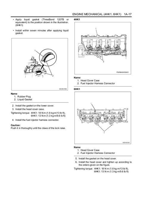 Isuzu Hitachi 4HK1 6HK1 Engine Workshop Manual - Ecomanual