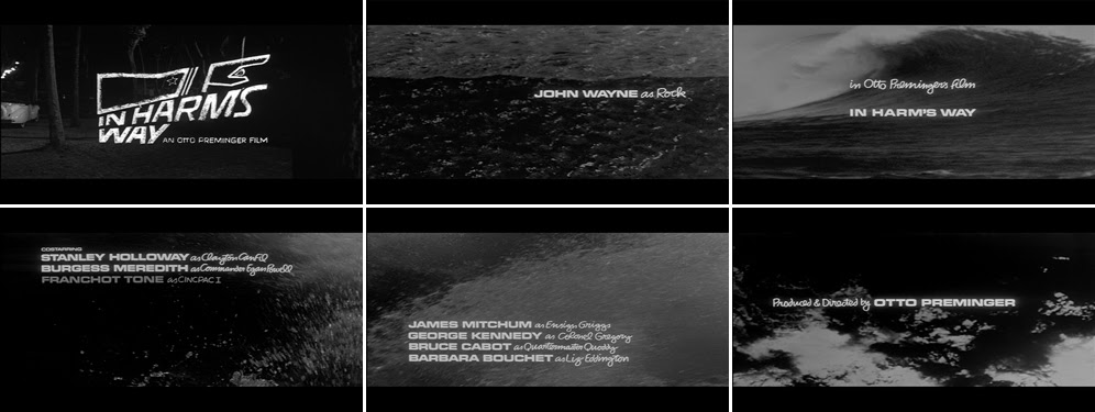 Saul Bass In harm's way 1965 title sequence