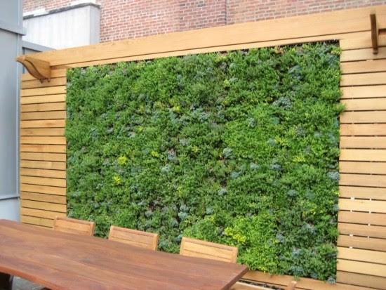 wandgestaltung wohnzimmer: edelstahl windschutz