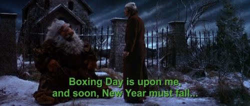 Boxing Day is upon me, and soon New Year must fall…