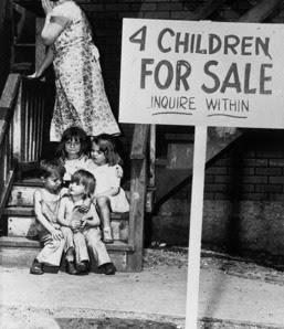 Μάνα βάζει πωλητήριο στα παιδιά της, Σικάγο, 1948, Νεοφιλελεύθερος, Νεοφιλελέ, neoliberal, neoliberalism