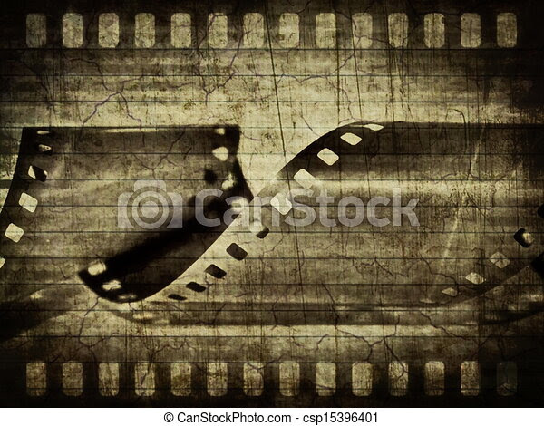 Stock Illustration of Old film roll background csp15396401  Search Clipart, Illustration