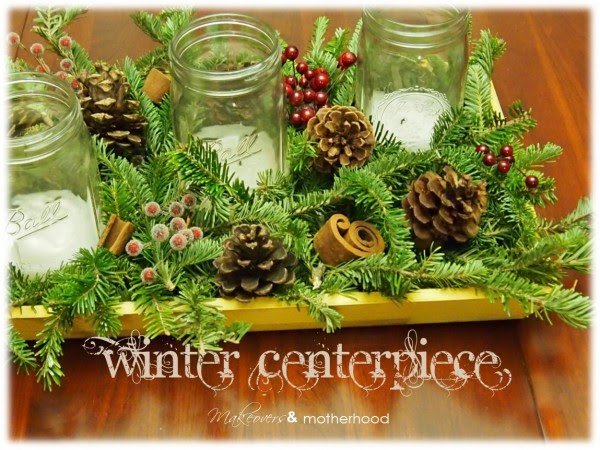 winter greens centerpiece