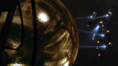 smooth and clean   the sphere, in the movie 'Sphere'   Tacky Harper's Cryptic Clues