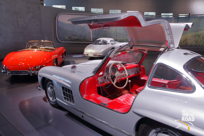 Sports cars at Mercedes Benz Museum, Stuttgart