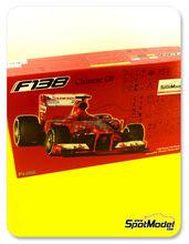 Maqueta de coche 1/20 Fujimi - Ferrari F138 Banco Santander - Nº 3, 4 - Fernando Alonso, Felipe Massa - Gran Premio de China 2013 - maqueta de plástico