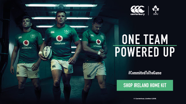 The new Ireland home jersey from Canterbury