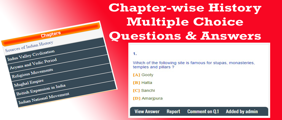 General Knowledge MCQs - Chapter-wise Indian History ...