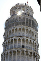 Sun Shining Through the Leaning Tower of Pisa