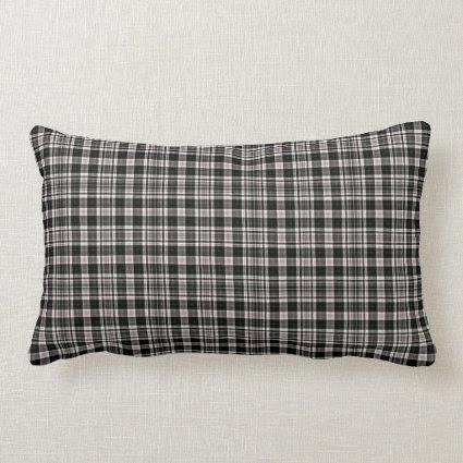 Scottish Tartan Plaid, black and tan checks Throw Pillow