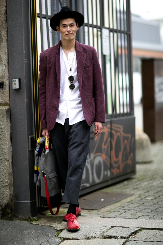 male models off duty milan men's fashion week 2014