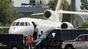 Avión Evo Morales