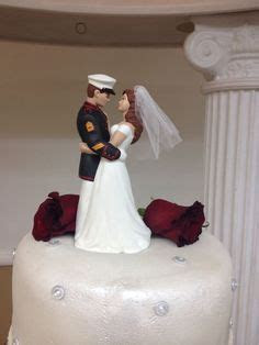 Custom Hand painted Military Cake Topper (Precious Moments