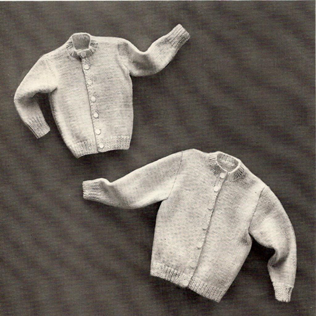 Vintage Childs Cardigan Knitting Pattern