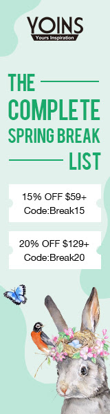 15% off $59+ for Spring Break