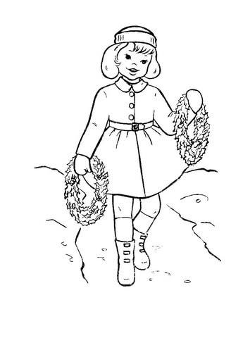 Dibujo De Niña Pequeña Con Coronas Para Colorear Dibujos Para