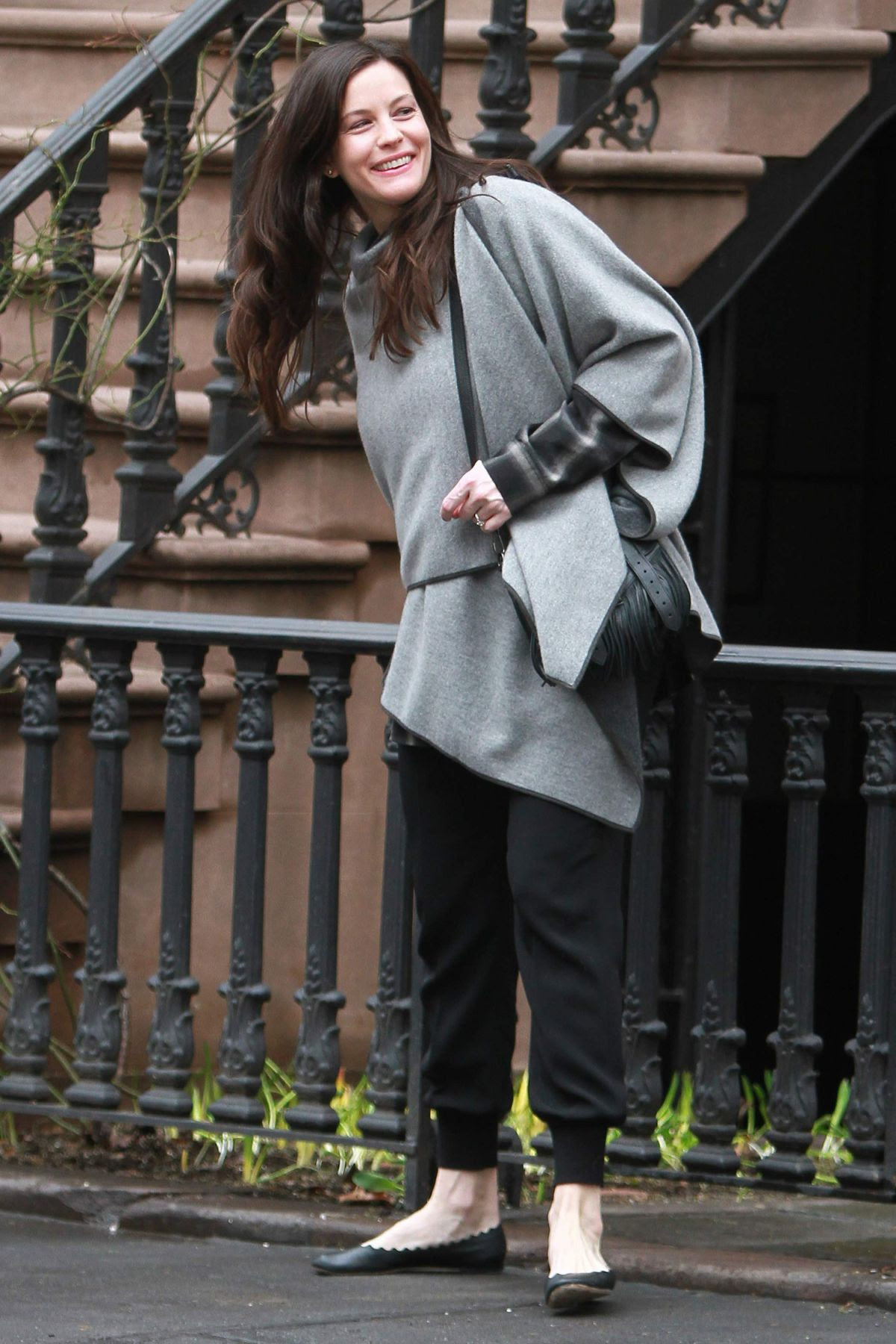 LIV TYLER Leaves Her Home in New York
