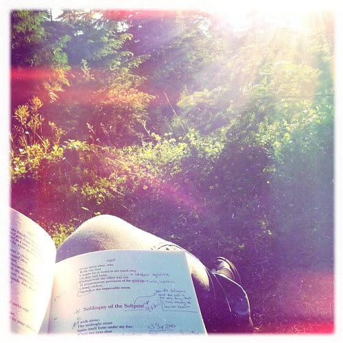 Reading Plath by Sunset
