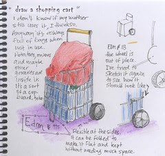 EDM 115 draw a shopping cart