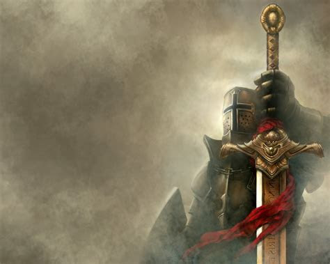 Fantasy Knight With Sword Computer Desktop Bac #12104 Wallpaper Cool Wallpaper HDwallpaperfun.com