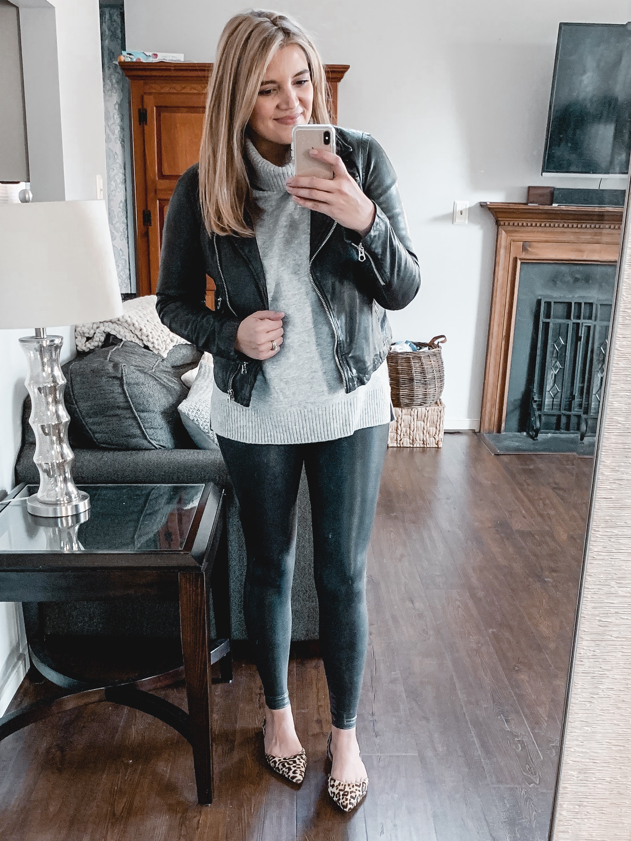 over 20 spanx leather leggings outfits lauren m