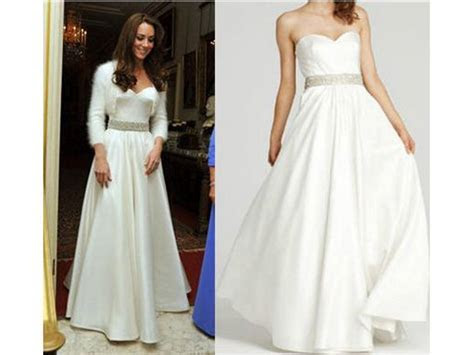 Kate Middleton Reception Dress   ABS Royal Dresses