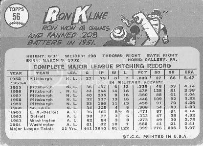 #56 Ron Kline (back)