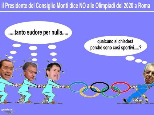 satira,attualità,olimpiadi roma,notizie,monti,pdl,