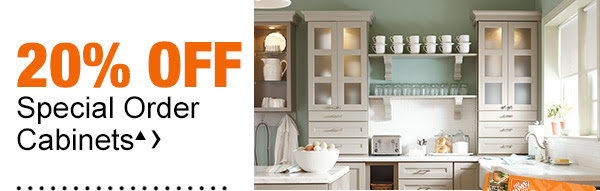 20% off Special Order Cabinets