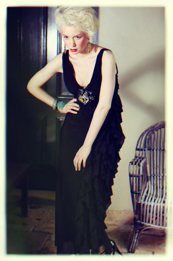 Black Dress, Film Noir, Fashion Catalogue