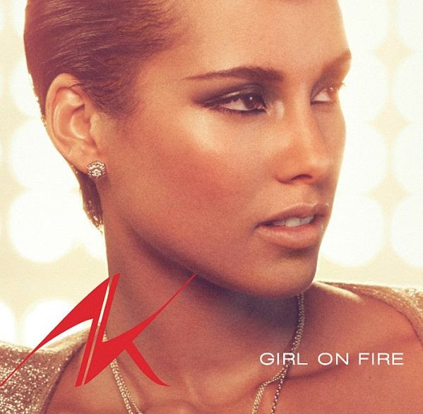 Girl On Fire (Single Cover), Alicia Keys
