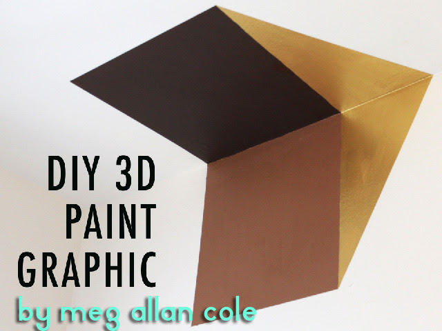 3D Geometric Painted Wall Graphic