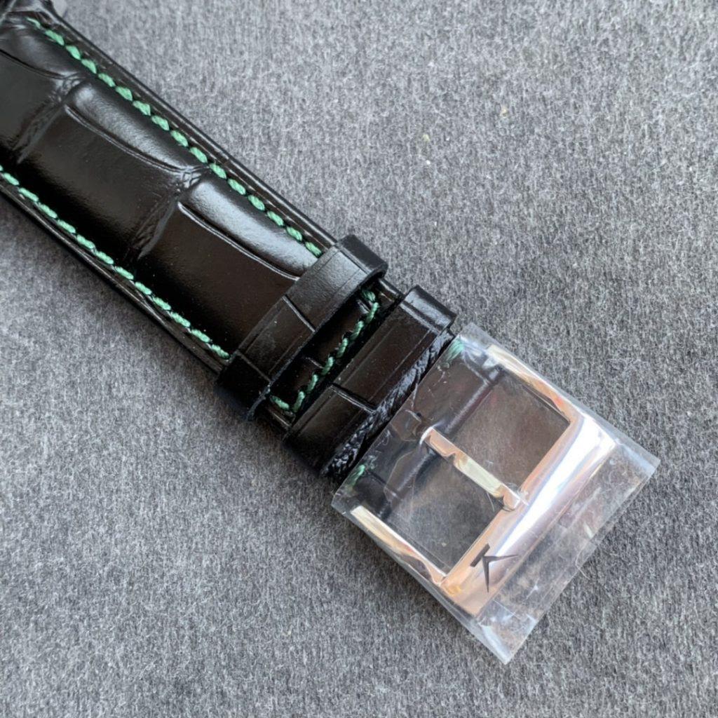 Konstantin Chaykin Black Leather Green Stitching