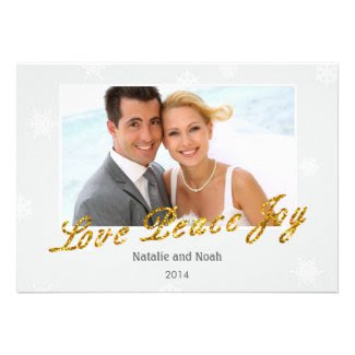 Elegant Glitter Holiday Photo Card