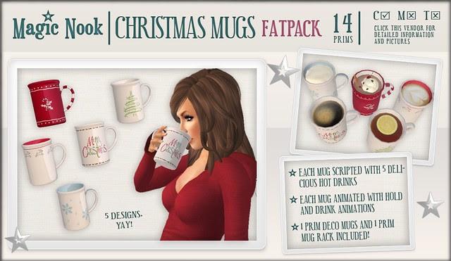 [MAGIC NOOK] Christmas Mugs (Fatpack)