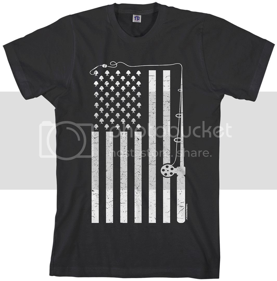 Download Threadrock Men's Fishing American Flag T-shirt USA Fish ...