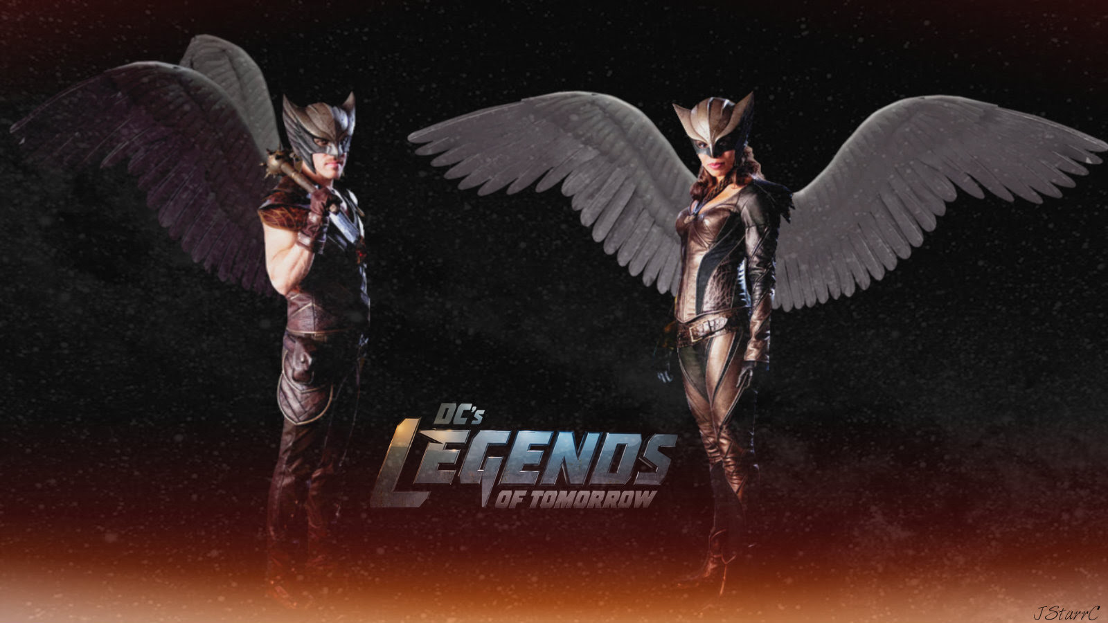Legends Of Tomorrow Khufu Hawkman Chay Ara Hawkgirl Dc S