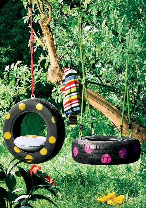 DIY Tree Swing Ideas For More Family Time (37)
