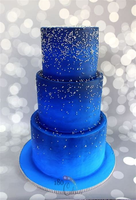 Midnight blue   Cakes in 2019   Blue birthday cakes, Cake