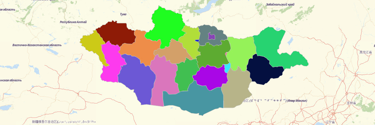 Map Of Mongolia Provinces