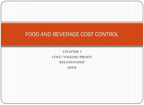 food  beverage cost control