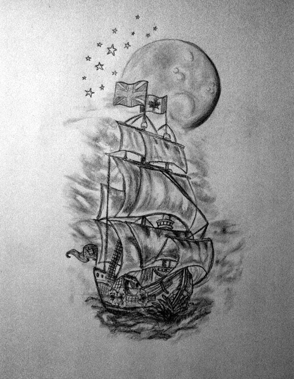 Half Sleeve Tattoo Designs For Men Black And White Cool Tattoos