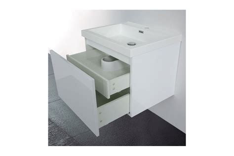 meuble de salle de bain  cm suspendu simple vasque primo
