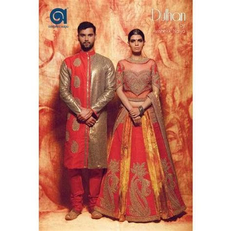 Multicolor Embroidered Bridal Couple Dress, Rs 54000 /set