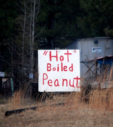 Boiled Peanut sign