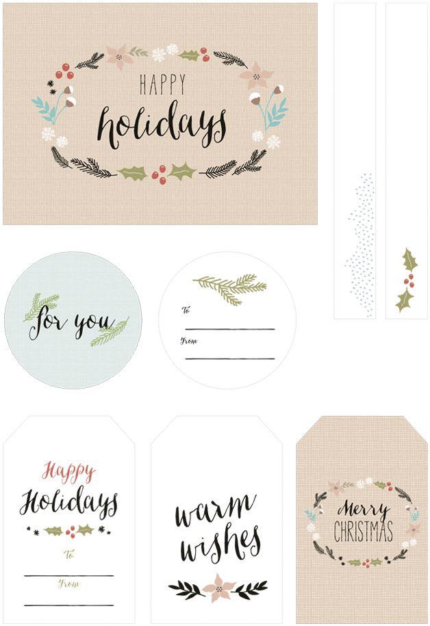 Imprimibles de tarjetas de regalo >> Free printable gift tags
