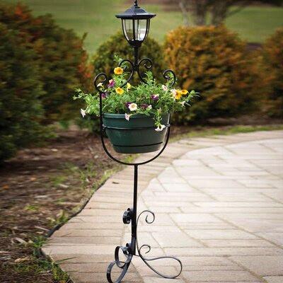 Evergreen Flag & Garden Round Plant Stands Pedestal with ...