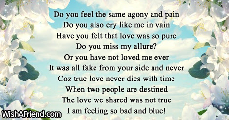Do You Feel The Same Lost Love Poem