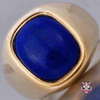 Mens Signed Lapis Lazuli Ring. I love big thick rings for